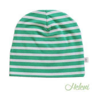 Rohelisetriibuline müts