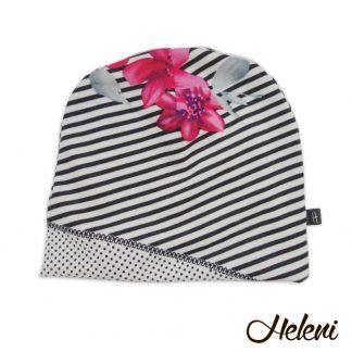 Triipude-täppidega müts
