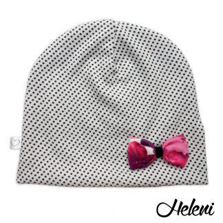Valge täppidega müts lipsuga