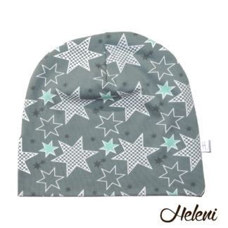 Rohekas tähtedega müts meriinovoodriga