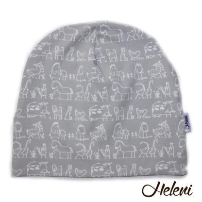 Meriinovoodriga müts koduloomadega