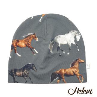 Hobustega tume müts