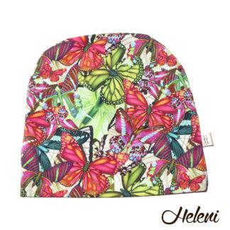 Meriinovoodriga müts liblikatega