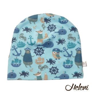 Loomadega mereteemaline müts