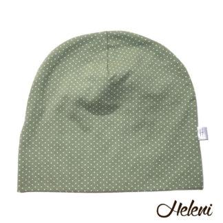 Roheline täppidega müts