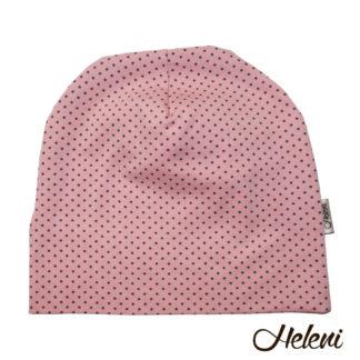 Roosa täppidega müts