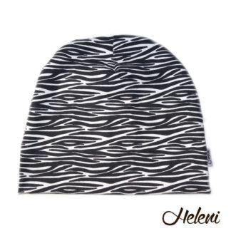 Musta valgekirju müts