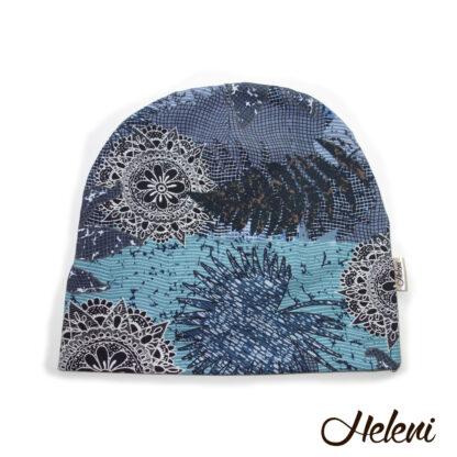 Sinistes toonides kirju müts