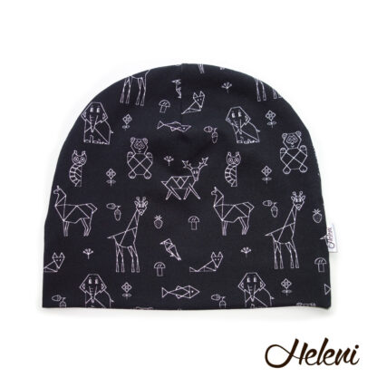 Must loomadega müts