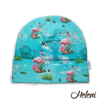 Flamingodega müts meriinovoodriga