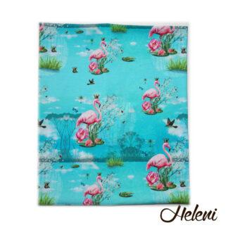 Kaelussall flamingodega meriinovoodriga